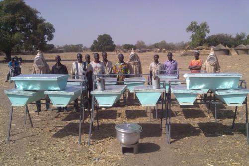 Modern beehives (Burkina Faso ©ADAP)